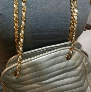 Worthington silver and gold chain crossbody